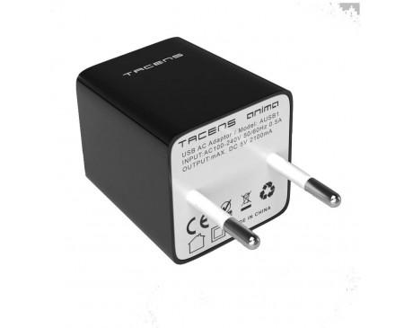 CARREGADOR USB TACENS ANIMA AUSB1 2 PORTS USB DE 2.1A CÀRREGA ULTRÀPIDA ( 4T AUSB1 )