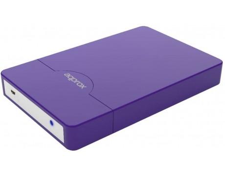 CAIXA DISC DUR AQPROX DE 2.5'' PER A USB 3.0, COLOR VIOLETA ( appHDD10P )