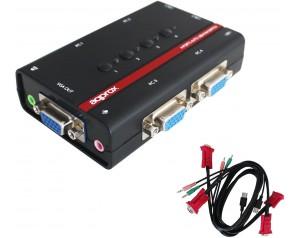 COMMUTADOR APPROX KVM USB...