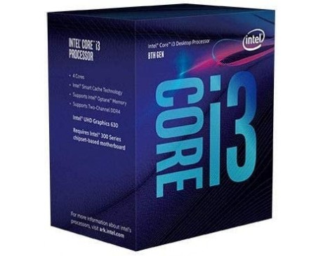 PROCESADOR INTEL CORE i3-8100 s-1151 3.6Ghz 6MB ( BX80684I38100 )