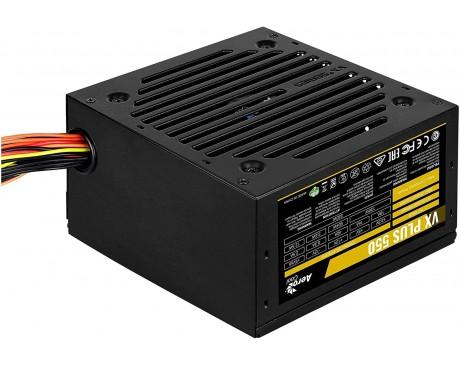 FONT D' ALIMENTACIÓ AEROCOOL VX PLUS 550 - 550W - VENTILADOR 12CM - PCI-E 6 PIN - CABLE PRINCIPAL 500MM ( VXPLUS550 )